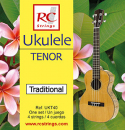 RC Strings UKT40 Ukulele Tenor set. Clear Nylon - Struny do Ukulele