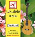 RC Strings UKT40 Ukulele Tenor set. Clear Nylon - Struny do Ukulele