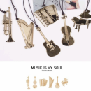 Kera Audio MMS-003 - Zakładka do książki w kształcie akordeonu