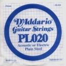 D'Addario PL020 struna .020