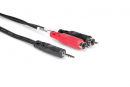 Hosa - Kabel breakout TRS 3.5 - 2 x RCA, 3m