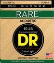 DR struny do gitary akustycznej RARE 10-48