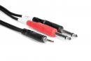 Hosa - Kabel breakout TRS 3.5 - 2 x TS 6.35, 0.91m