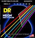 DR STRUNY DO GITARY AKUSTYCZNEJ NEON MULTI-COLOR 11-50