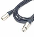 LINK Microphone cable, Neutrik XLR 3 silver/silver, 3m - kabel mikrofonowy, Neutrik XLR 3 srebrny