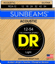 DR struny do gitary akustycznej SUNBEAM Phosphor Bronze 12-54