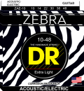 DR struny do gitary akustycznej ZEBRA 10-48