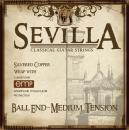 Cleartone struny do gitary klasycznej Sevilla Medium Tension Ball End