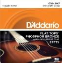 D'Addario EFT15 10-47 - struny do gitary akustycznej