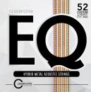 Cleartone struny do gitary akustycznej EQ Hybrid Metal 11-52