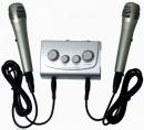 Zestaw dwóch mikrofonów do karaoke + mikser