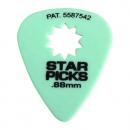 Cleartone kostka do gitary STAR PICKS 0.88 zielona