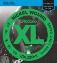 D'Addario EXL220-5 40-125 - struny do gitary basowej