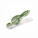 KERA AUDIO CLIP CLEF zielony - klips klucz wiolinowy zielony