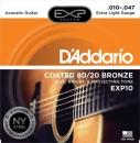 D'Addario EXP10 10-47 - struny do gitary akustycznej