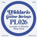 D'Addario PL026 struna .026