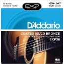 D'Addario EXP36 10-47 - struny do gitary akustycznej 12-str