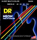 DR struny do gitary basowej NEON MULTI-COLOR 45-105