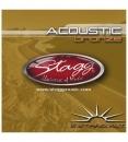 Stagg AC 12 ST BR - struny do gitary akustycznej, dwunastostrunowej