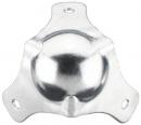 Monacor - narożnik metalowy srebrny średni