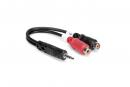Hosa - Kabel breakout TRS 3.5mm - 2 x gniazdo RCA