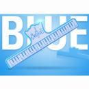 KERA CLIP PIANO niebieski- Klips do papieru niebieski