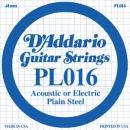D'Addario PL016 struna .016