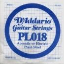 D'Addario PL018 struna .018