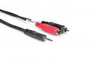 Hosa - Kabel breakout TRS 3.5 - 2 x RCA, 1.8m