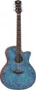 Luna Gypsy Exotic Quilted Ash Trans Blue - gitara akustyczna