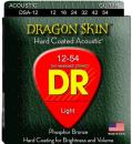 DR DSA 12-54 DRAGON SKIN struny powlekane do gitary akustycznej