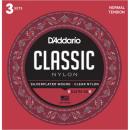 DADDARIO EJ27N-3D strun do gitary klasycznej 3 komplety