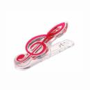 KERA AUDIO CLIP CLEF czerwony - klips klucz wiolinowy czerwony