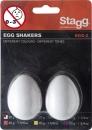 Stagg EGG 2 WH - shakery plastikowe białe