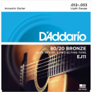 EJ11 struny do gitary akustycznej /12-53/ D'addario