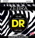 DR struny do gitary akustycznej ZEBRA 10-46