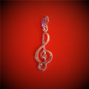 Klucz Wiolinowy - Wisiorek na łańcuszek