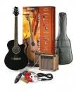 Stagg SW 206 BK P3 - gitara elektro-akustyczna z wyposażeniem
