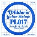 D'Addario PL017 struna .017