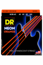 DR NOB 45-105 NEON ORANGE BASS struny powlekane do gitary basowej