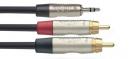 Stagg NYC10/MPS2CMR - kabel przejściowy 10m
