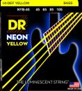 DR struny do gitary basowej NEON YELLOW 45-105