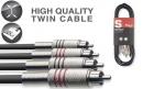 Stagg STC2C - podwójne kable połączeniowe RCA/RCA