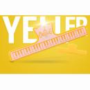 KERA CLIP PIANO żółty - Klips do papieru żółty
