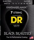 DR struny do gitary elektrycznej BLACK BEAUTIES 10-56 7-str