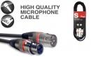 Stagg SMC3 XX RD – kabel mikrofonowy 3m z oznaczeniem końcówek