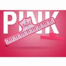 KERA CLIP PIANO różowy - Klips do papieru różowy