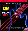DR struny do gitary basowej NEON RED 45-105
