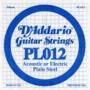 D'Addario PL012 struna .012
