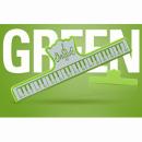KERA CLIP PIANO zielony - Klips do papieru zielony